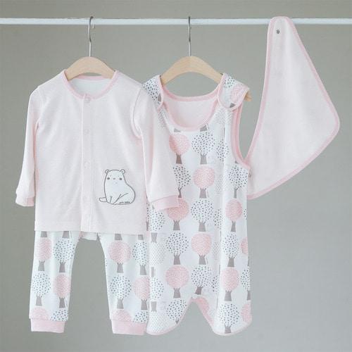 베어트리 밤부 유아용품 3종세트 / 내의 수면조끼 스카프빕